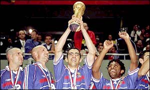 France won the World Cup in 1998