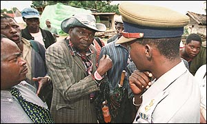 War veterans confront police