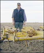 Simon Ramsay with his plough