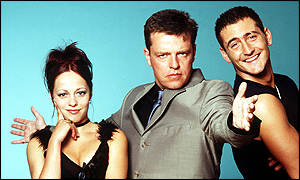 Night Fever - Sarah Cawood, Suggs and Will Mellor