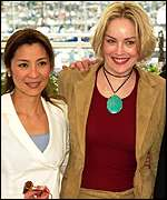Michelle Yeoh and Sharon Stone