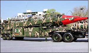 Pakistan's Ghauri ballistic missile on parade