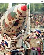 India's Prithvi ballistic missile on parade