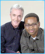 Anthony Daniels, who plays C-3PO, with Lizo
