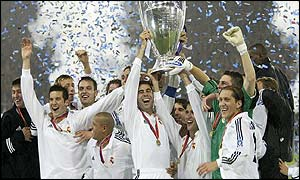Real Madrid with the cup