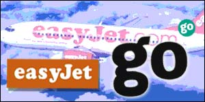 Easyjet plane with Easyjet and Go logos