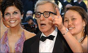Woody Allen arrived with his wife Soon-Yi (right) and Hollywood Ending co-star Tiffani-Amber Thiessen