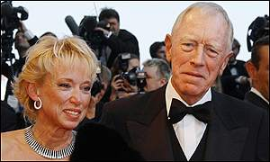 Veteran actor Max Von Sydow was at the screening with his wife