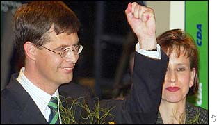CDA leader Jan Peter Balkenende and his wife