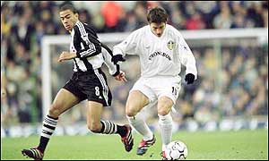 Things are looking up for Newcastle midfielder Kieron Dyer