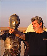 Georga Lucas with C3PO