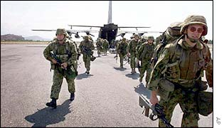 UN troops arriving in Dili, October 1999