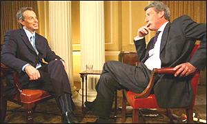 Prime Minister Tony Blair and Jeremy Paxman