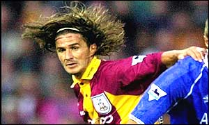 Star player Benito Carbone in action when Bradford City was in the Premier League