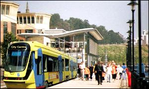 Artist's impression of new Tyne and Wear tram