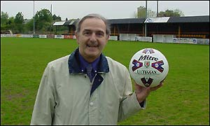Peter Hughes Griffiths with match ball