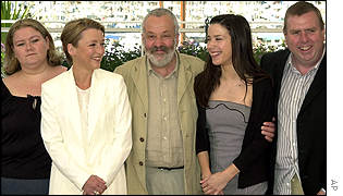 Alison Garland, Lesley Manville,  Mike Leigh, Sally Hawkins and Timothy Spall