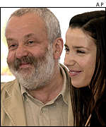 Mike Leigh and Sally Hawkins