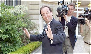 The leader of the French Socialists, Francois Hollande