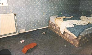 The bedroom where the torture happened