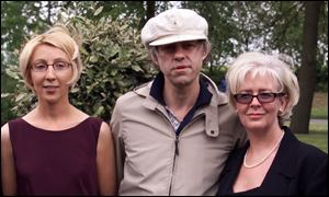 Bob Geldof with families of the victims of the Omagh bombing