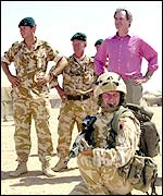 Geoff Hoon with Royal Marines