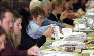 Counting got underway across the country on Saturday morning