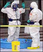 Decontamination after suspected anthrax attack in the US in 2001