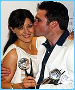 Kacey Ainsworth and Alex Ferns from EastEnders