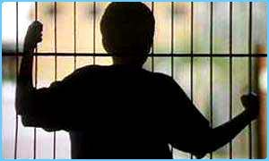 Child behind bars