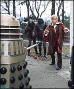 Jon Pertwee with Daleks