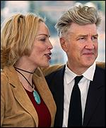 Sharon Stone with David Lynch