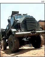 Indian armoured vehicle close to the Line of Control
