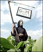 GM crops protest