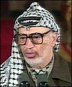 [ image: Yasser Arafat: No return to violence]