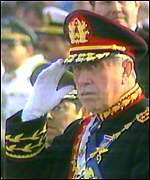 [ image: Chile expects the general to disappear from political life]