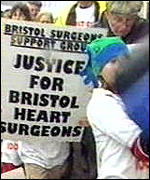 [ image: Bristol surgeon supporters say they have saved many lives]