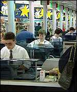 [ image: Staff will need to be retrained and tills replaced to cope with the onset of the euro]
