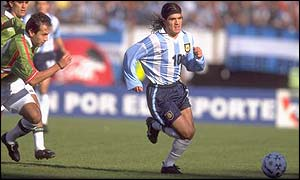Ariel Ortega has worn Argentina's number 10 shirt before