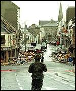 [ image: 29 died and hundreds were injured in the Omagh bombing]