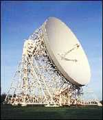 [ image: Jodrell Bank: signals are from a satellite]