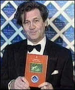 [ image: Melvyn Bragg received the Whitbread Book Award on behalf of Ted Hughes in January]