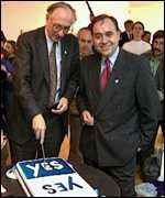 [ image: Alex Salmond (right) says Donald Dewar has brought up a