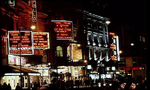 Apollo theatre at night