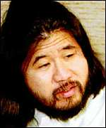 [ image: Cult membership has dropped since Asahara's arrest]