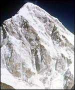 [ image: Mount Everest: Lord Hunt organised the expedition which first climbed the mountain]