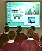 [ image: Pupils are using the grid for language lessons via video-conferencing]