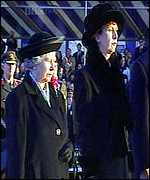 [ image: The Queen and President McAleese at the ceremony at the peace tower]