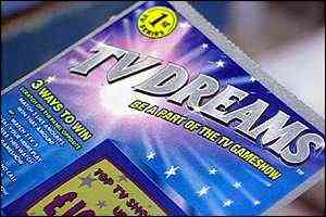 TV Dreams lottery ticket