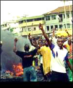 [ image: Nigeria rioted after Chief Abiola's death]